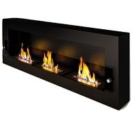 Биокамин ЭкоЛайф Fire Line Glass black, burgundy
